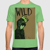 Wild Mens Fitted Tee Grass SMALL