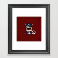 Screaming Captain America Framed Art Print