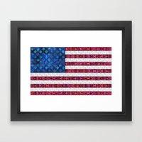 Tribal America - Flag Framed Art Print