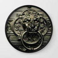 Lion Door Wall Clock