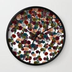 mini floral Wall Clock