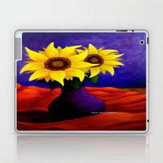 Two Sunflowers In A Vase By Artist Annie Zeno Laptop & iPad Skin