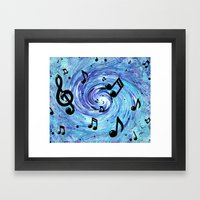 Musical Blue Framed Art Print
