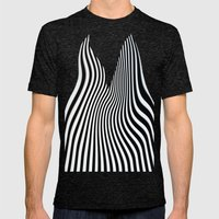 Stripes Mens Fitted Tee Tri-Black SMALL