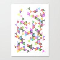 Technicolour Raindrops Canvas Print