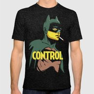 Control Mens Fitted Tee Tri-Black SMALL