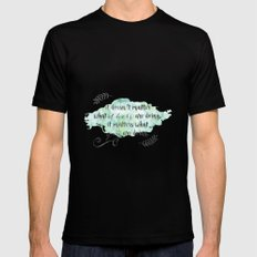 It doesn't matter what others are doing SMALL Black Mens Fitted Tee