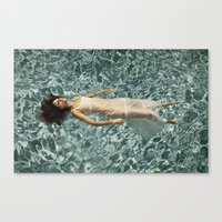 Ophelia in a Pool Canvas Print