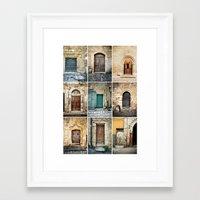 Nine Doors Framed Art Print