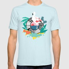 Flaming-oOO SMALL Mens Fitted Tee Light Blue