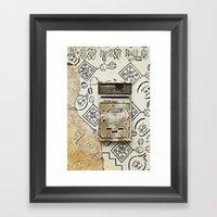 Mailbox and Mural Framed Art Print