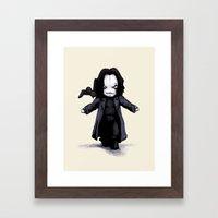 Plush Crow 2.0 Framed Art Print