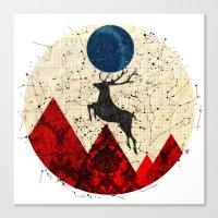 Deer Dream Mountain · 3 Canvas Print