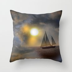 Sailing To Heaven Throw Pillow