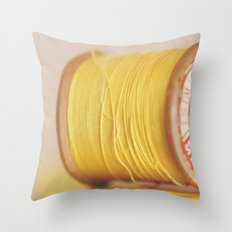 y is for yellow Throw Pillow