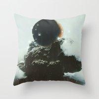 Final Eclipse Throw Pillow