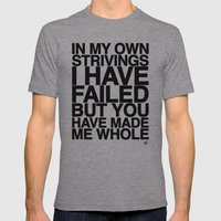 IN MY OWN STRIVINGS I HAVE FAILED, BUT YOU HAVE MADE ME WHOLE (A Prayer) Mens Fitted Tee Athletic Grey SMALL