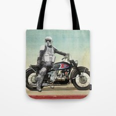 Looking for the drones, VW Scout Trooper Motorbike Tote Bag