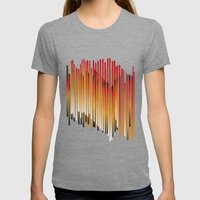 fire Womens Fitted Tee Tri-Grey SMALL