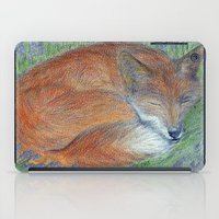 A Sleepy Fox  iPad Case