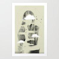 Facet Sky Art Print