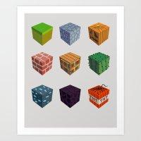 9 Blocks Art Print