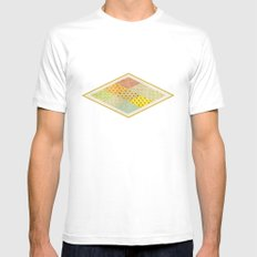 SPONGE CAKE / PATTERN SERIES 001 SMALL White Mens Fitted Tee