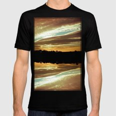 Dawn On The Side SMALL Mens Fitted Tee Black