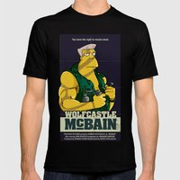 McBain Mens Fitted Tee Black SMALL