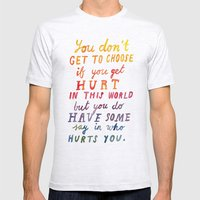 If You Get Hurt Poster Mens Fitted Tee Ash Grey SMALL