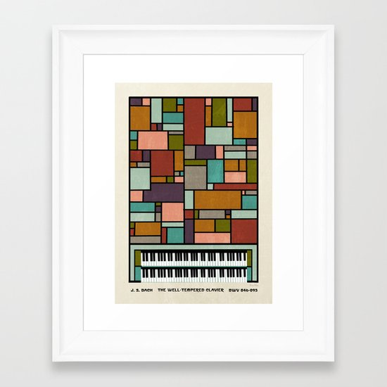 The Well-Tempered Clavier - Bach Framed Art Print