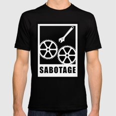 Sabotage Mens Fitted Tee Black SMALL