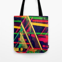 Industrial Abstract Green Tote Bag