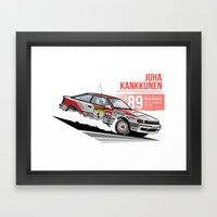 Juha Kankkunen - 1989 Australia Framed Art Print