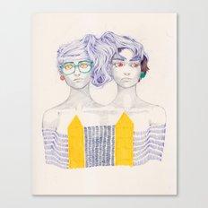 Hair Play 02 Canvas Print