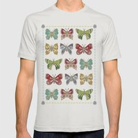Butterfly butterfly Mens Fitted Tee Silver SMALL