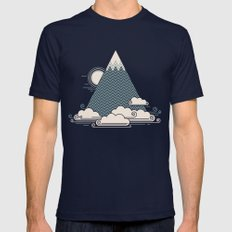 Cloud Mountain Mens Fitted Tee Navy SMALL