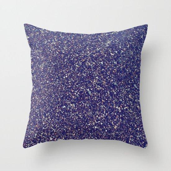 Black Sand III (Rose) Throw Pillow