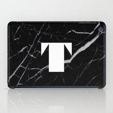 Black Marble - Alphabet T iPad Case