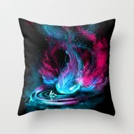 Throw Pillow featuring The Visitor by Alice X. Zhang