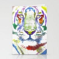 ROAR (tiger color version) Stationery Cards