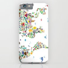 Animal Map Of The World … iPhone 6 Slim Case