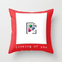 Talk Nerdy to me - Linking of you Throw Pillow