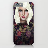 Young Girl and Flowers (Emma Roberts) iPhone 6 Slim Case