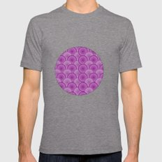 Circular Wave Mens Fitted Tee Tri-Grey SMALL