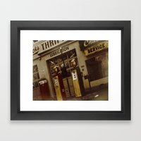 Gas Station of old Framed Art Print