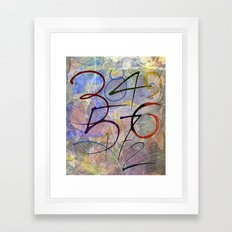 Days are numbers Framed Art Print