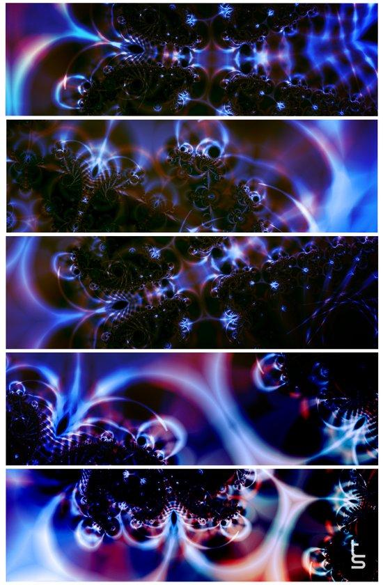 Astro Light Show (Five Panels Series) Art Print
