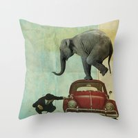 Looking For Tiny _ Eleph… Throw Pillow