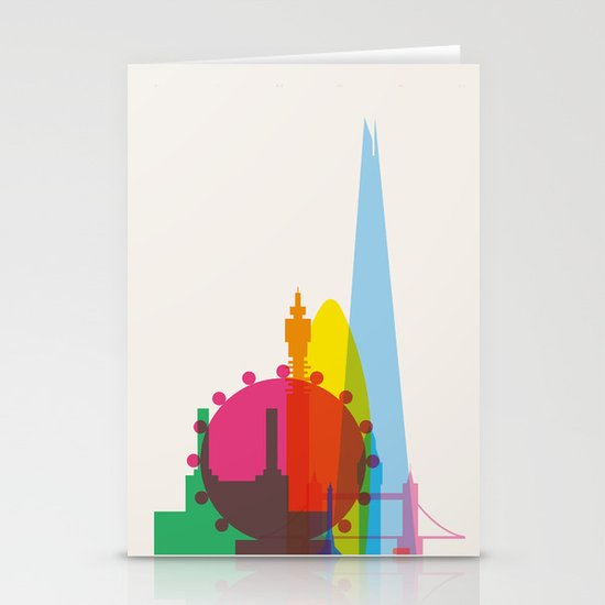 Shapes of London. Accurate to scale Stationery Card